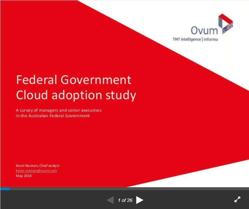 Federal Government Cloud Adoption - Ovum Study