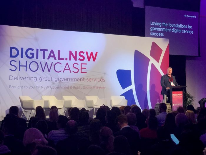 Digital.NSW Showcase presentation on government digital services